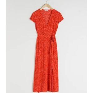 Polka Dot Midi Wrap Dress